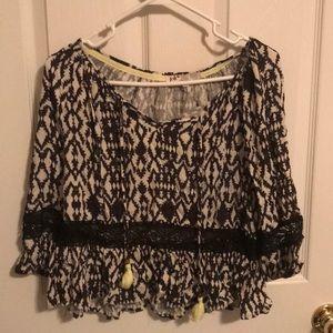 Flowy Aztec blouse